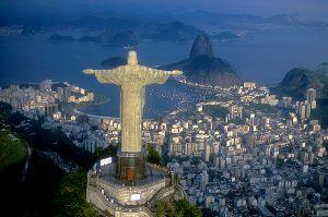 Corcovado Hill Guanabara Bay - Rio de Janeiro