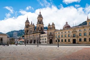 Bolivar square and cathedral, Bogota
