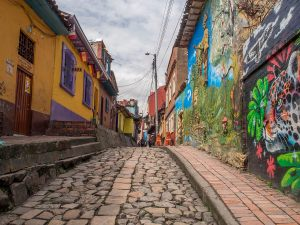 Walls of houses, Bogota