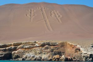 The Candelabra, desert coast near Paracas