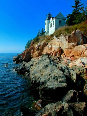 the lighthouse at acadia national park - bar harbor