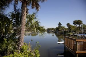 canal in cocoa beach - florida