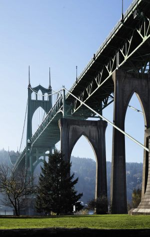 st. john s bridge in portland