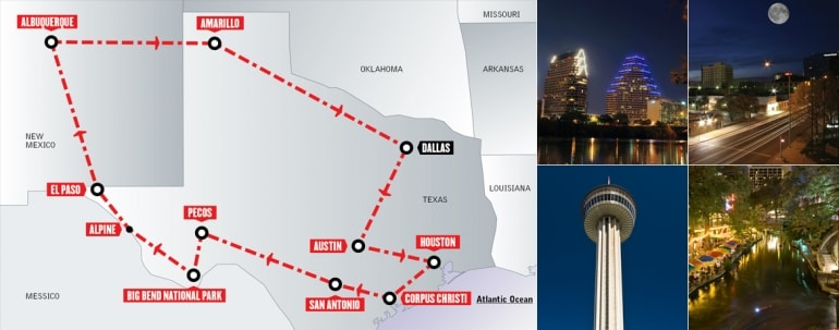 Tour Stati Uniti in auto: Lone Star Trail