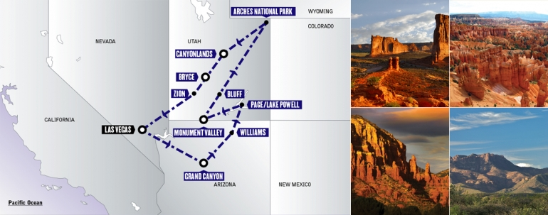 Tour Stati Uniti: Cowboys and Canyons